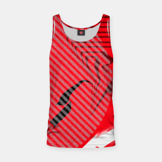Thumbnail image of red abstract striped digital art Tank Top, Live Heroes
