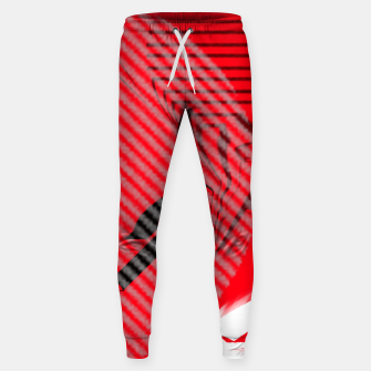 Thumbnail image of red abstract striped digital art Sweatpants, Live Heroes