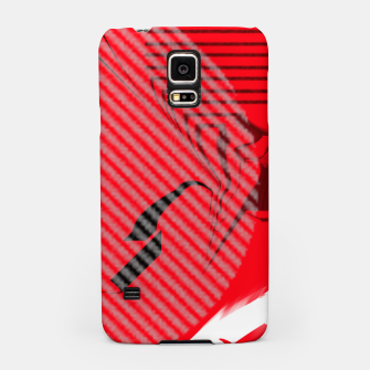 Thumbnail image of red abstract striped digital art Samsung Case, Live Heroes