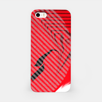 Thumbnail image of red abstract striped digital art iPhone Case, Live Heroes