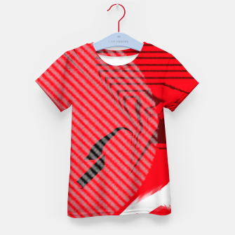 Thumbnail image of red abstract striped digital art Kid's t-shirt, Live Heroes