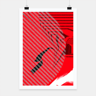 Thumbnail image of red abstract striped digital art Poster, Live Heroes