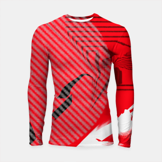 Thumbnail image of red abstract striped digital art Longsleeve rashguard , Live Heroes