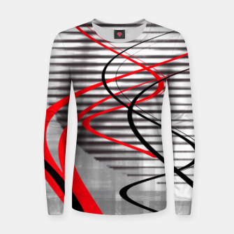 Thumbnail image of winter abstract digital painting Women sweater, Live Heroes