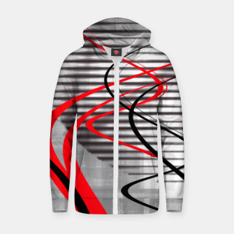 Thumbnail image of winter abstract digital painting Zip up hoodie, Live Heroes