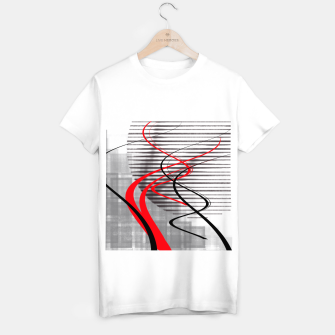 Miniatur winter abstract digital painting T-shirt regular, Live Heroes