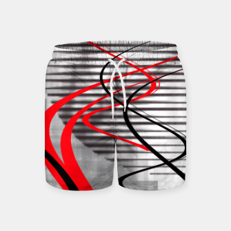 Miniatur winter abstract digital painting Swim Shorts, Live Heroes