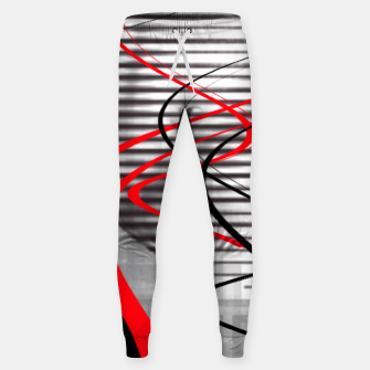 winter abstract digital painting Sweatpants thumbnail image