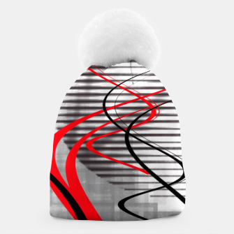 winter abstract digital painting Beanie thumbnail image
