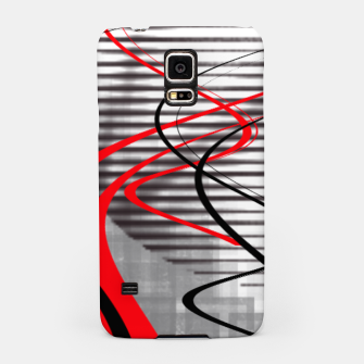 Miniatur winter abstract digital painting Samsung Case, Live Heroes