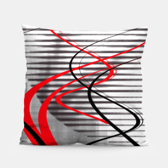 winter abstract digital painting Pillow thumbnail image