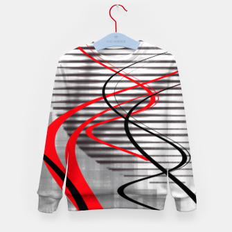 Miniatur winter abstract digital painting Kid's sweater, Live Heroes