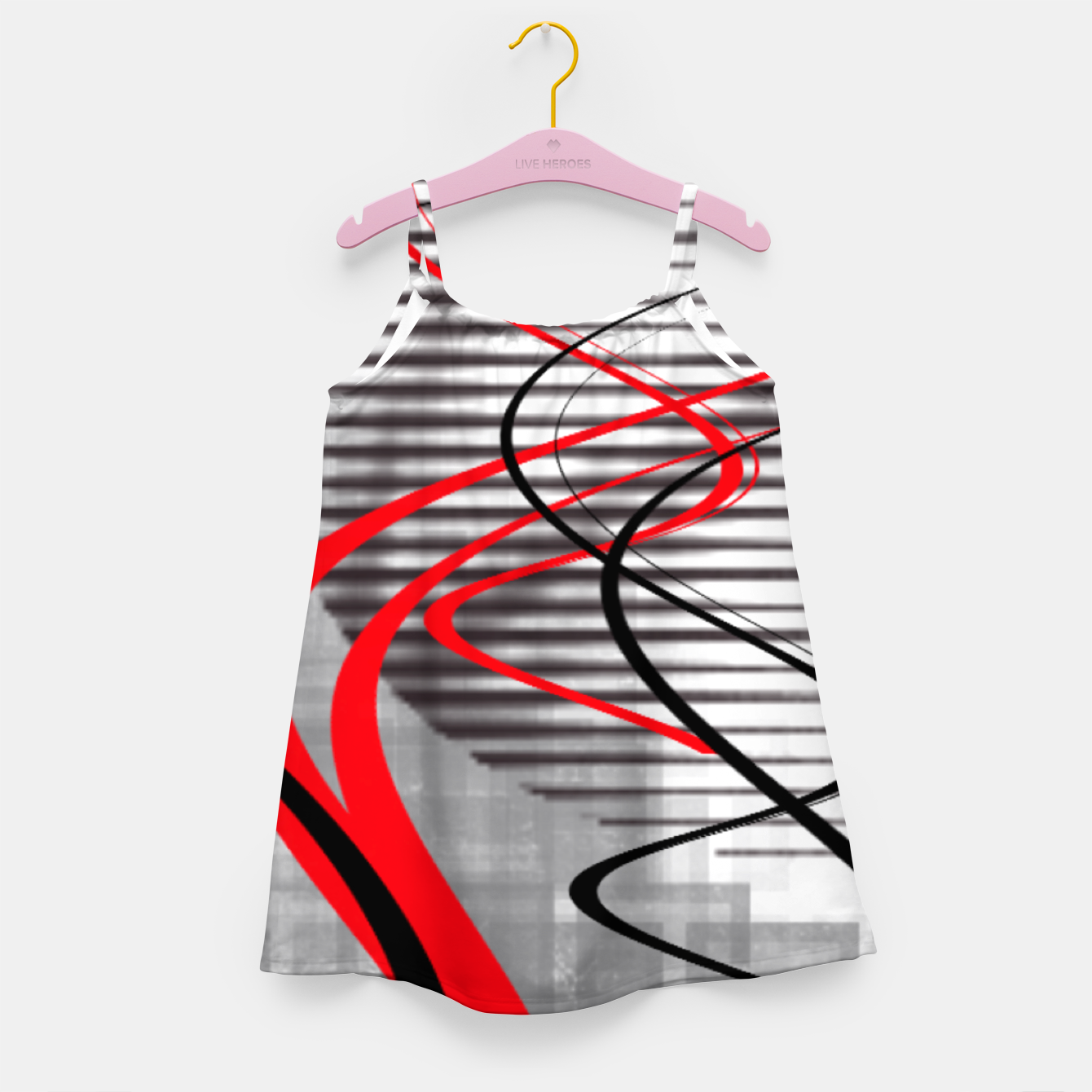 Image of winter abstract digital painting Girl's dress - Live Heroes