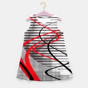 Miniatur winter abstract digital painting Girl's summer dress, Live Heroes