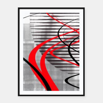 winter abstract digital painting Framed poster thumbnail image