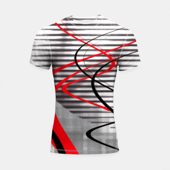 winter abstract digital painting Shortsleeve rashguard thumbnail image