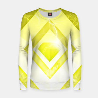 Miniatur Yellow Diamond Women sweater, Live Heroes