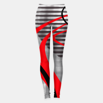 winter abstract digital painting Leggings thumbnail image