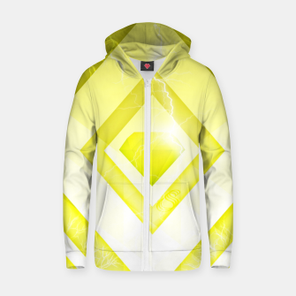 Miniatur Yellow Diamond Zip up hoodie, Live Heroes