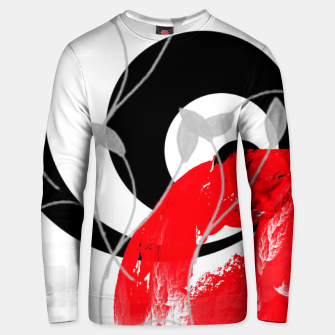 red wave abstract geometric digital art Unisex sweater thumbnail image