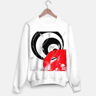 Miniatur red wave abstract geometric digital art Sweater regular, Live Heroes