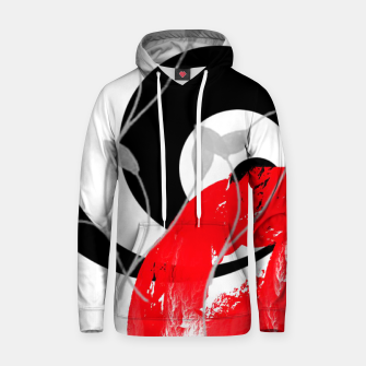 red wave abstract geometric digital art Hoodie thumbnail image