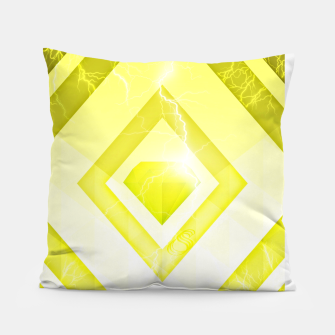 Miniatur Yellow Diamond Pillow, Live Heroes