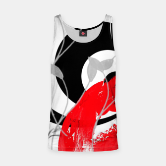 Miniatur red wave abstract geometric digital art Tank Top, Live Heroes