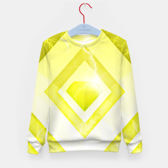 Miniatur Yellow Diamond Kid's sweater, Live Heroes