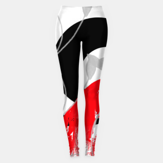 Miniatur red wave abstract geometric digital art Leggings, Live Heroes