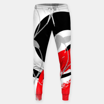 Miniatur red wave abstract geometric digital art Sweatpants, Live Heroes