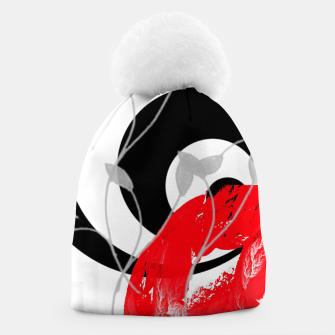 Thumbnail image of red wave abstract geometric digital art Beanie, Live Heroes