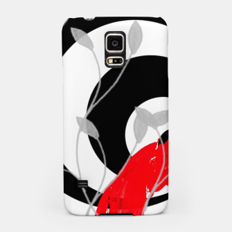 Miniatur red wave abstract geometric digital art Samsung Case, Live Heroes