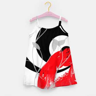 Miniatur red wave abstract geometric digital art Girl's dress, Live Heroes