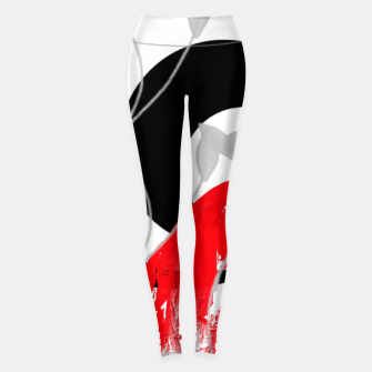 Thumbnail image of red wave abstract geometric digital art Leggings, Live Heroes