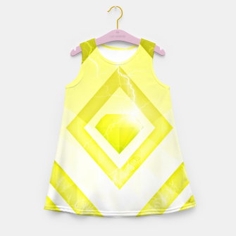 Miniatur Yellow Diamond Girl's summer dress, Live Heroes