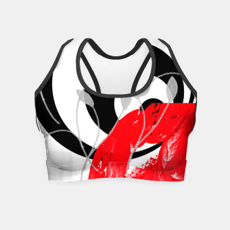 Miniatur red wave abstract geometric digital art Crop Top, Live Heroes
