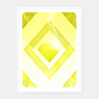 Miniatur Yellow Diamond Framed poster, Live Heroes