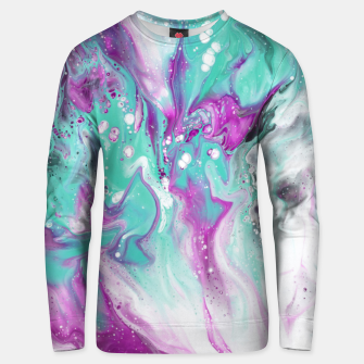 Thumbnail image of Colorful watercolor space marble Unisex sweater, Live Heroes