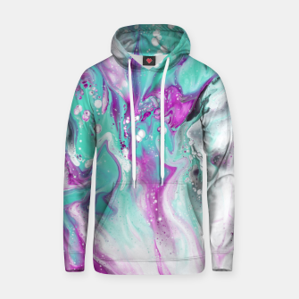 Colorful watercolor space marble Hoodie obraz miniatury