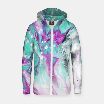 Colorful watercolor space marble Zip up hoodie obraz miniatury