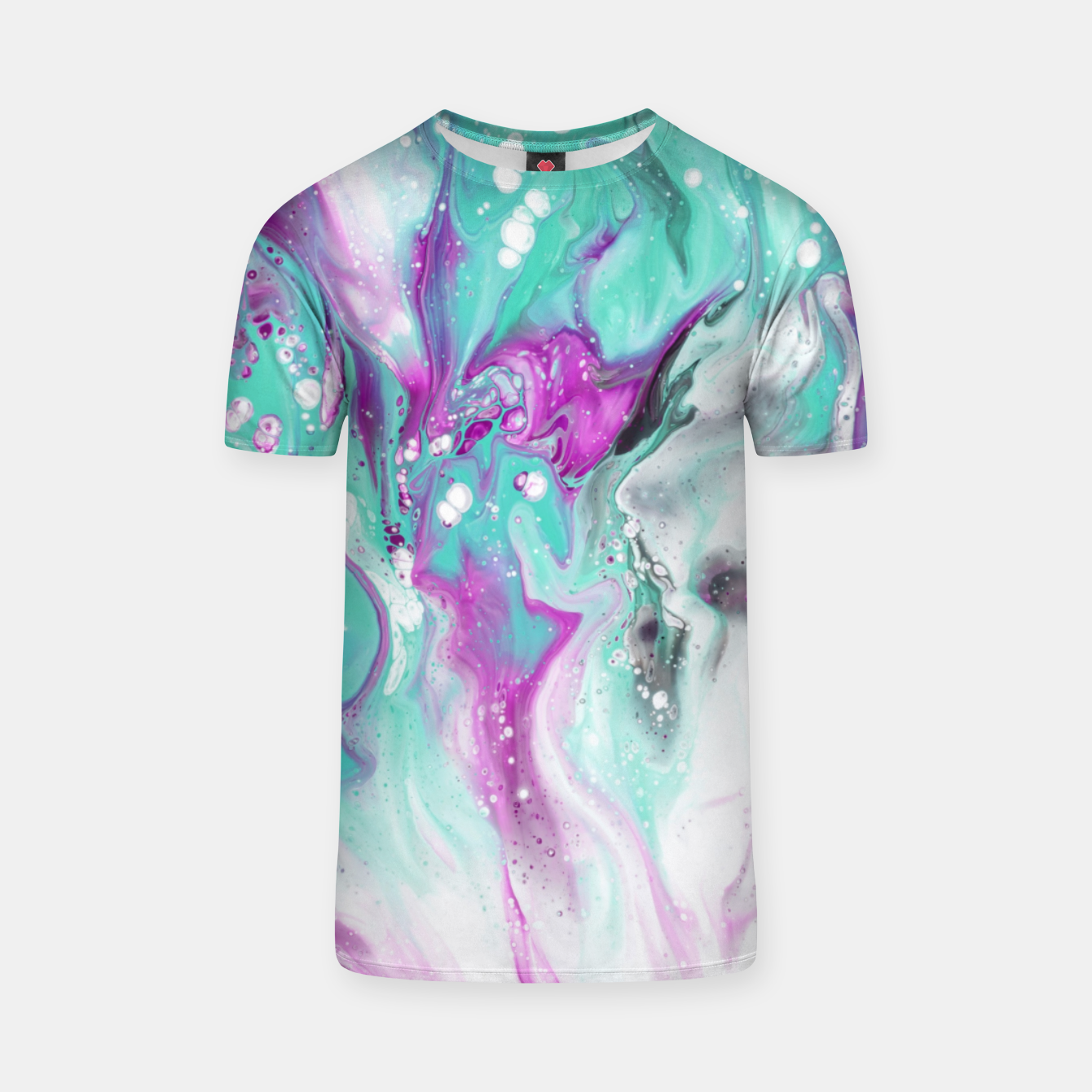 Zdjęcie Colorful watercolor space marble T-shirt - Live Heroes