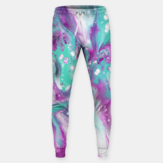 Colorful watercolor space marble Sweatpants obraz miniatury