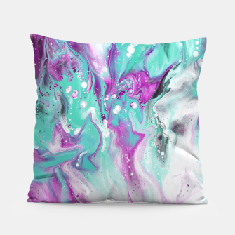 Thumbnail image of Colorful watercolor space marble Pillow, Live Heroes