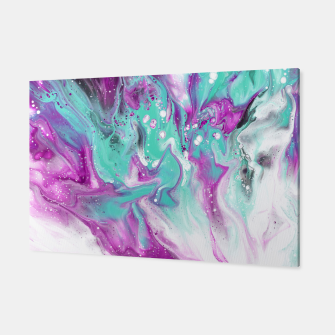 Colorful watercolor space marble Canvas obraz miniatury