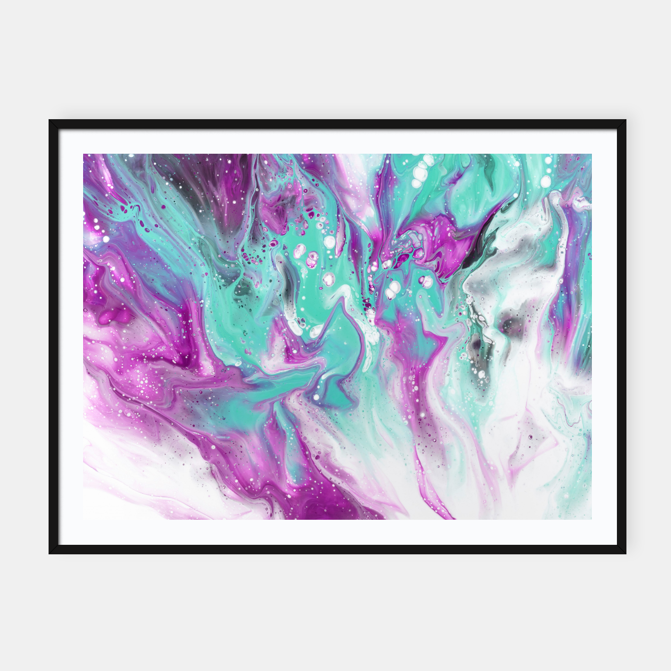 Zdjęcie Colorful watercolor space marble Framed poster - Live Heroes