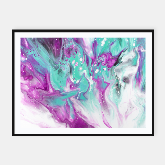 Thumbnail image of Colorful watercolor space marble Framed poster, Live Heroes