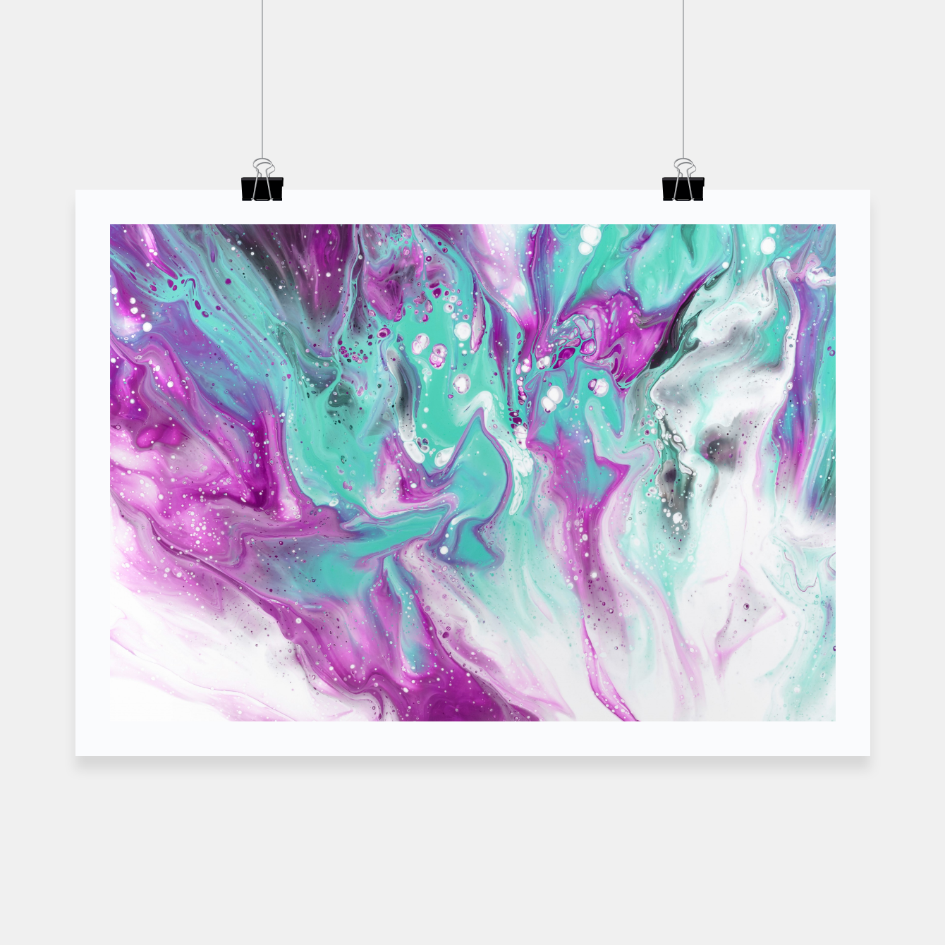 Zdjęcie Colorful watercolor space marble Poster - Live Heroes