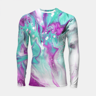 Colorful watercolor space marble Longsleeve rashguard  obraz miniatury