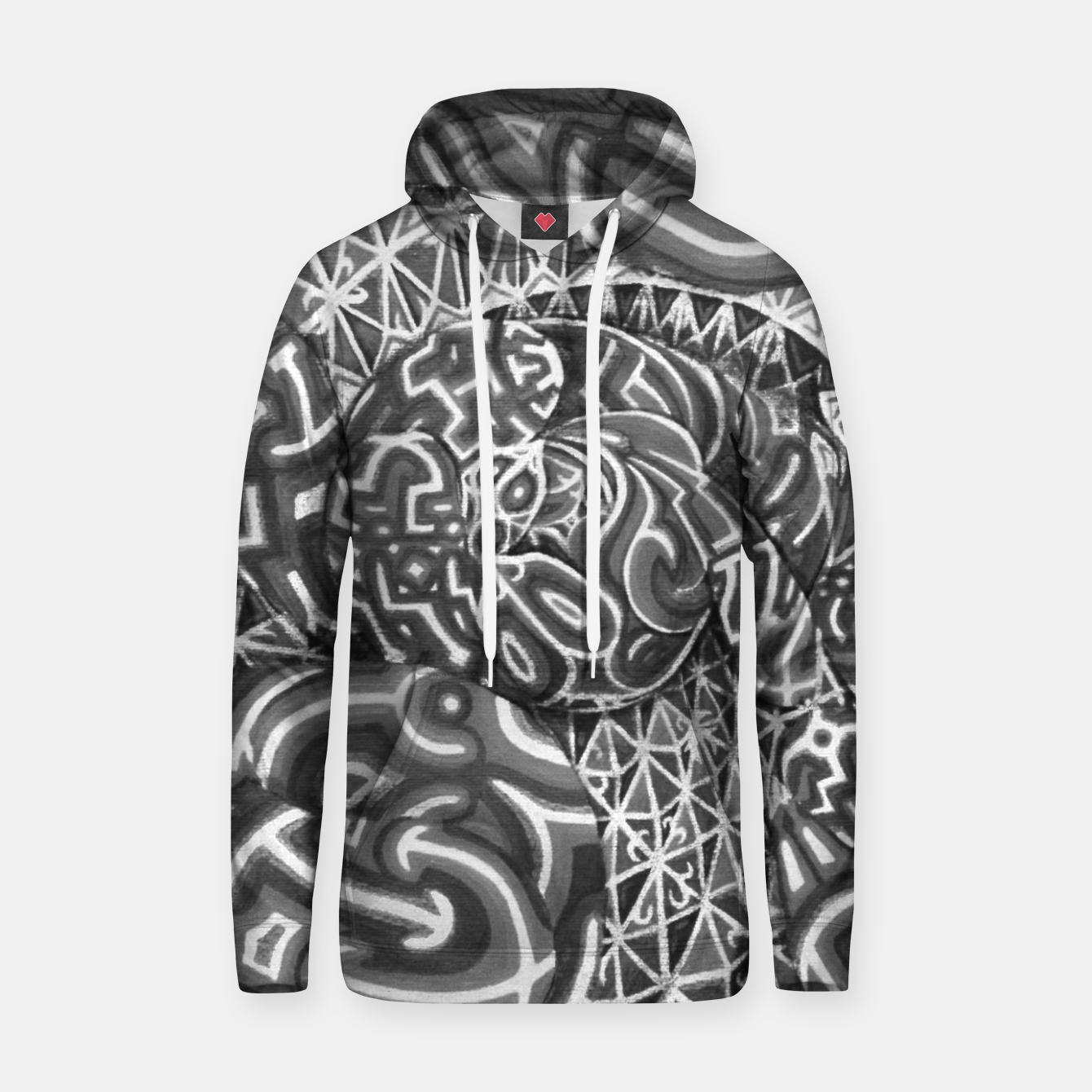 Image de Black and whilte language portal Hoodie - Live Heroes